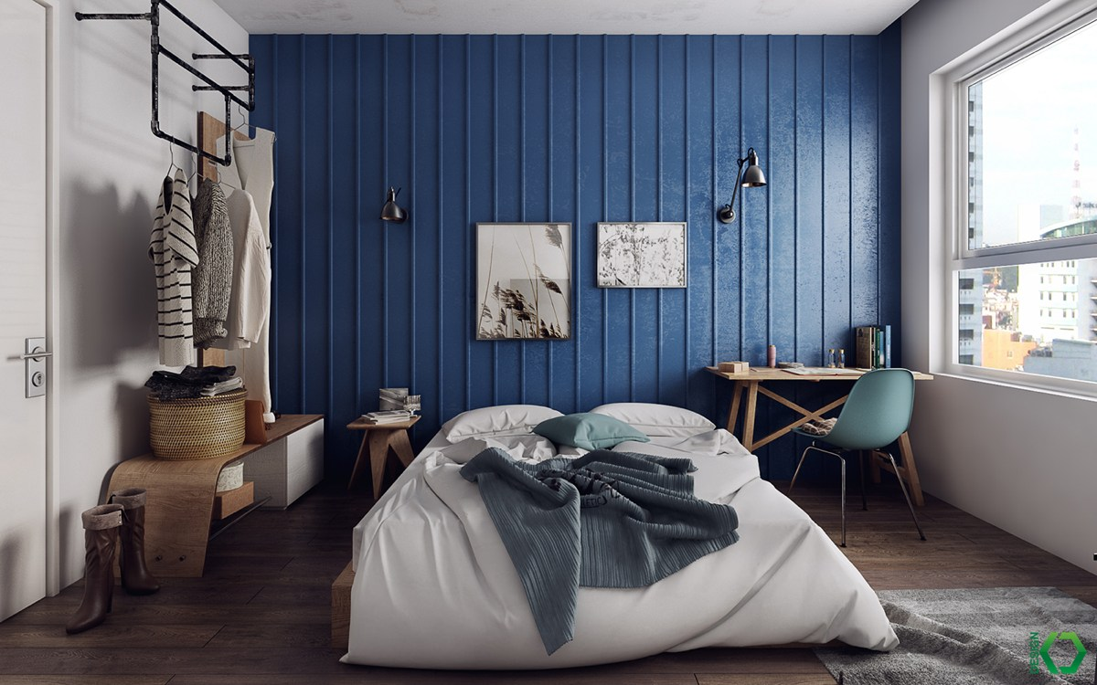 Clothing Rack In Small Bedroom - A charming eclectic home inspired by nordic design