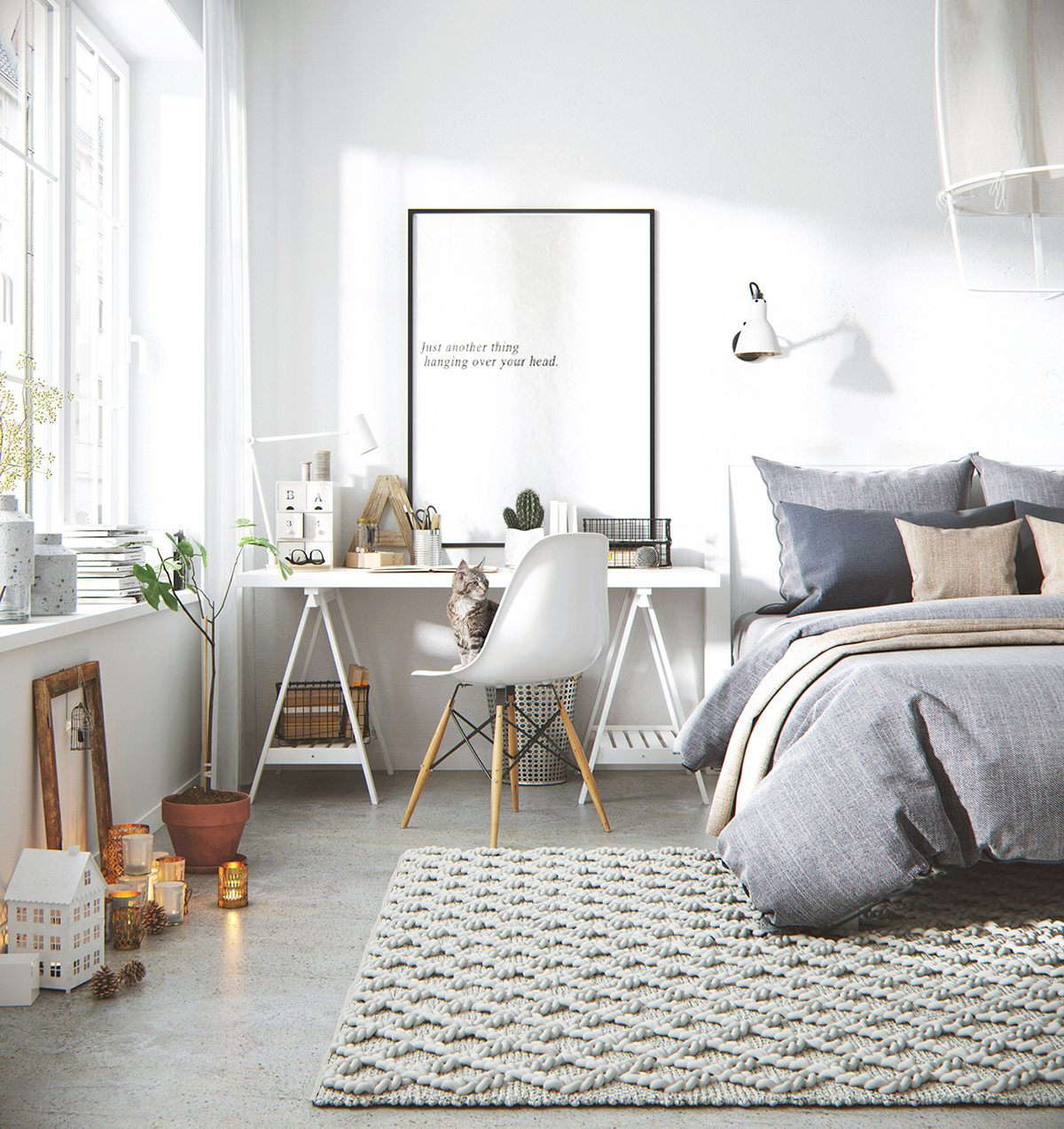Cool Bedroom Backgrounds Bedroom Interior Design For Small Houses Bedroom Lighting Tumblr Simple Black And White Bedroom Ideas: Bright And Cheerful: 5 Beautiful Scandinavian-Inspired