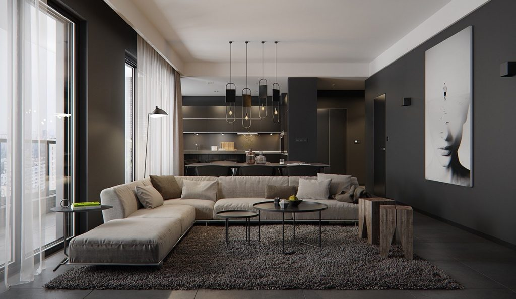 Luxury styles 6 dark and daring interiors for Sophisticated living room designs