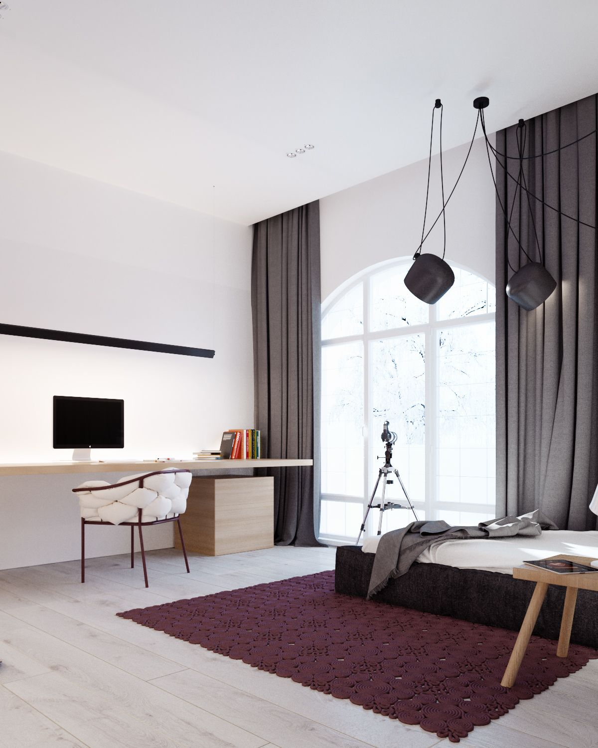 A cleverly decorated family home in ukraine - Grey themed rooms ...
