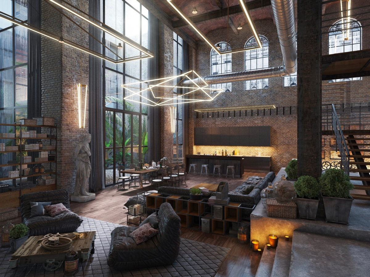 40 incredible lofts that push boundaries for Industrial interior design lighting