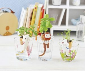 Cat, Dog, and Monkey Planters: These charming little animals also have tails that function as wicks, but these fun characters can transform any cup into a cool hydroponic planter!