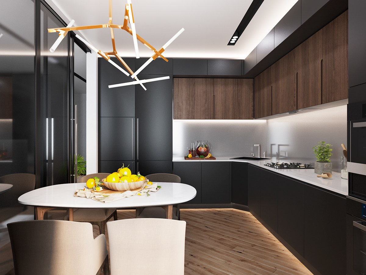 Interior Design Kitchen Luxury Styles 6 Dark And Daring Interiors