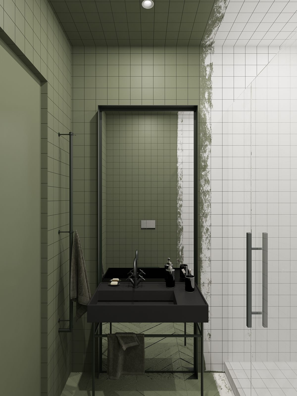 Innovative Fresh Bathroom Decorating Ideas Beautiful Black Fixtures