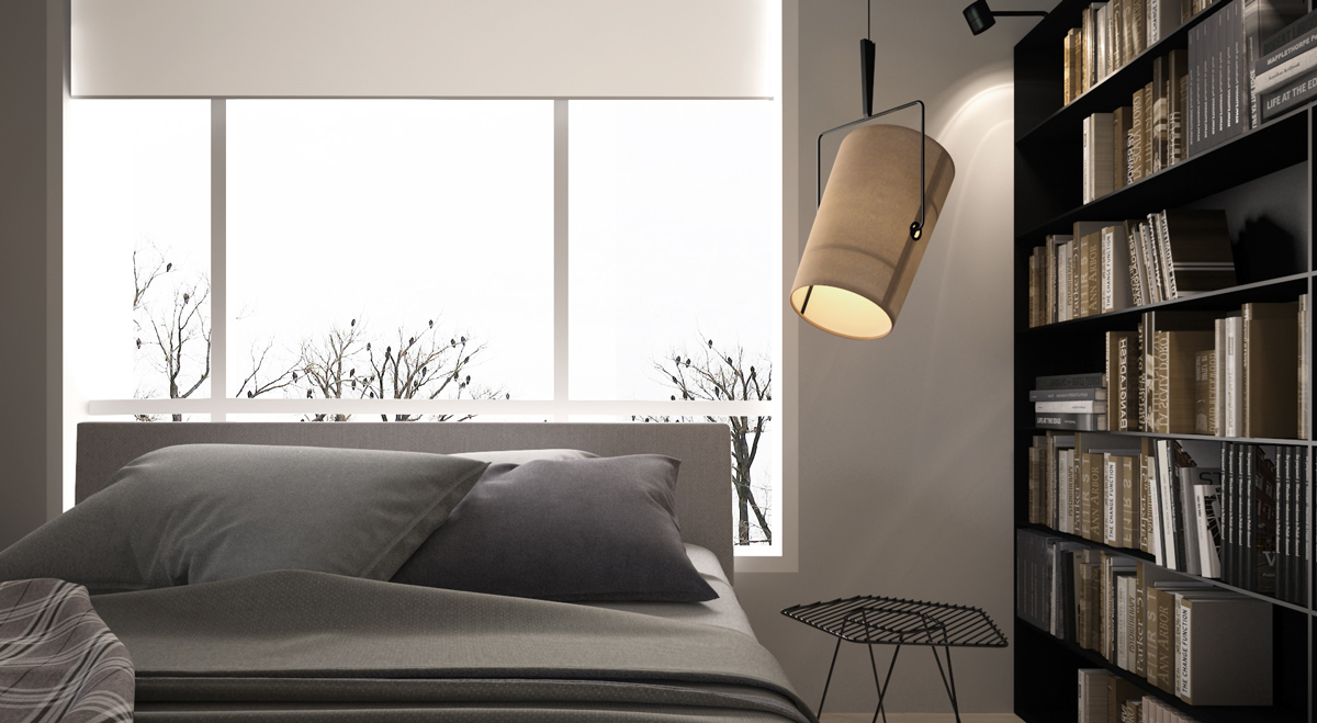 3 light interiors with creative pops of color for Neutral palette bedroom