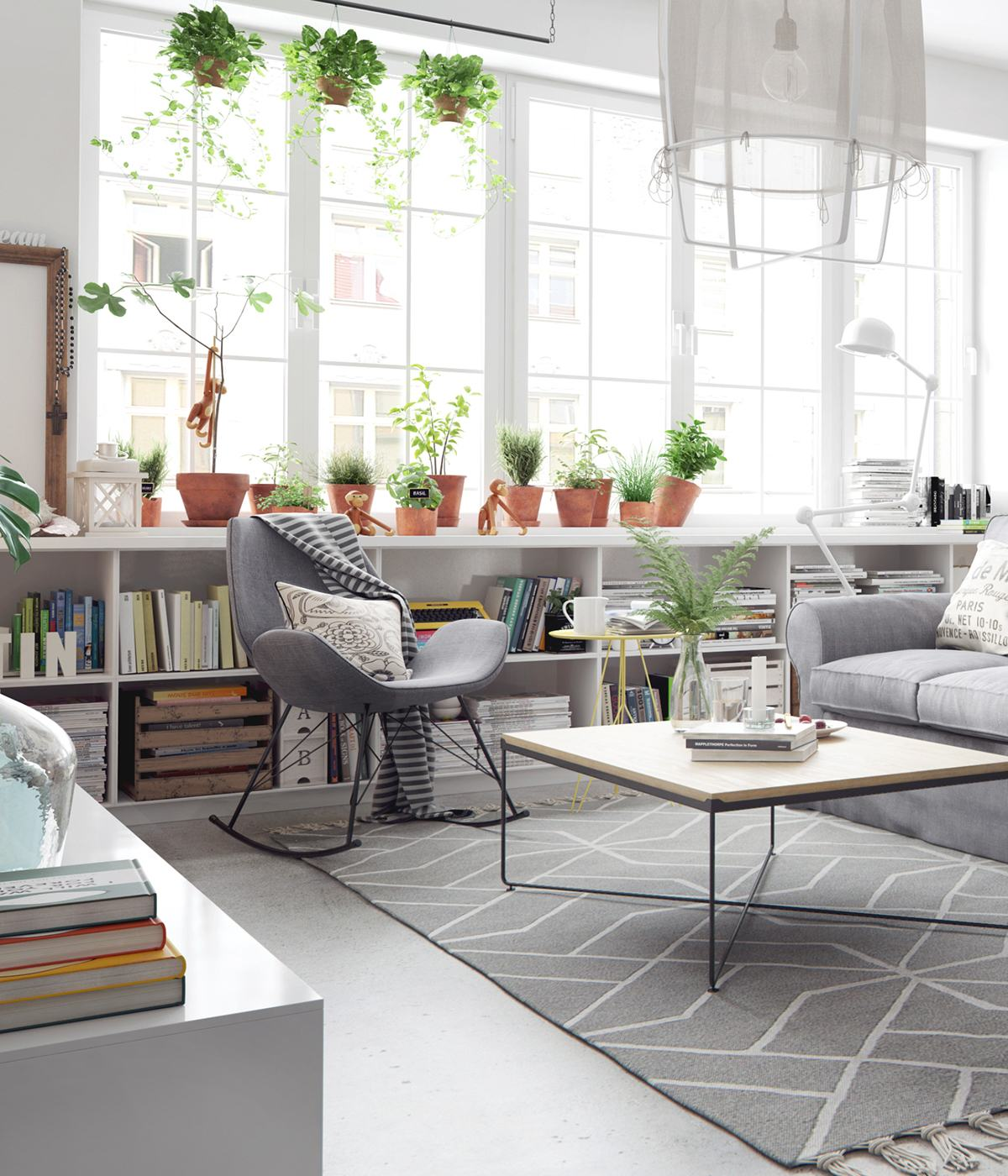 Bright and cheerful 5 beautiful scandinavian inspired Interior home decoration