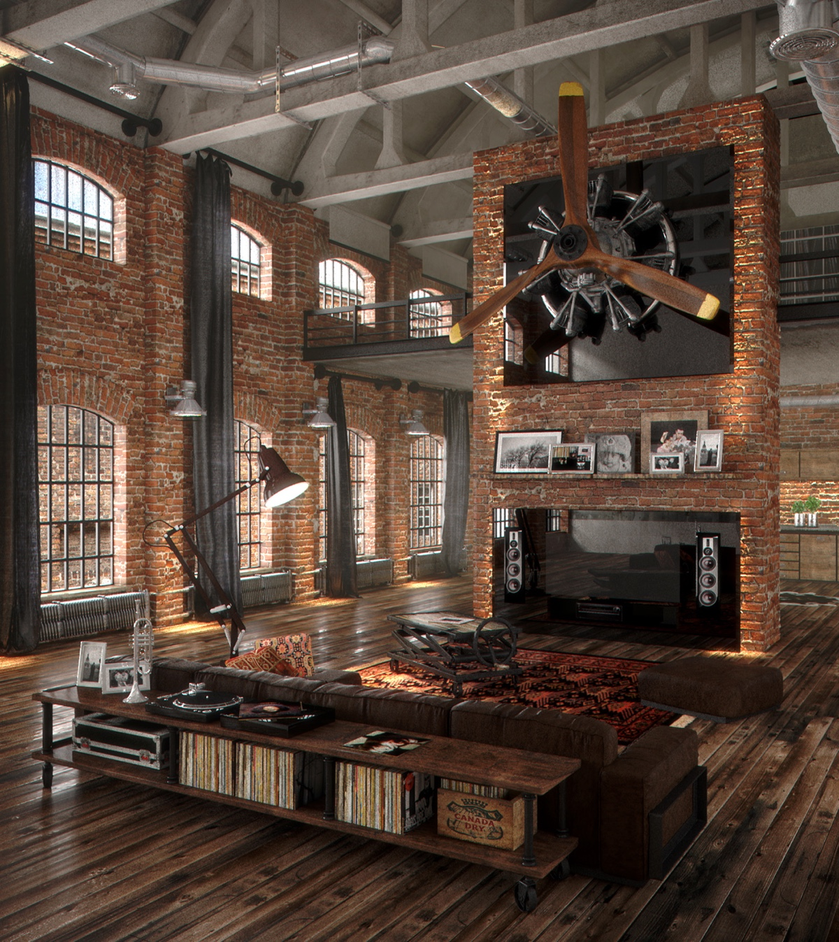 40 incredible lofts that push boundaries - Decoracion industrial vintage ...