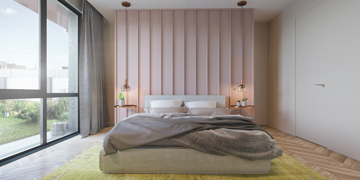 Pink Accent Wall - 6 master suits to inspire you