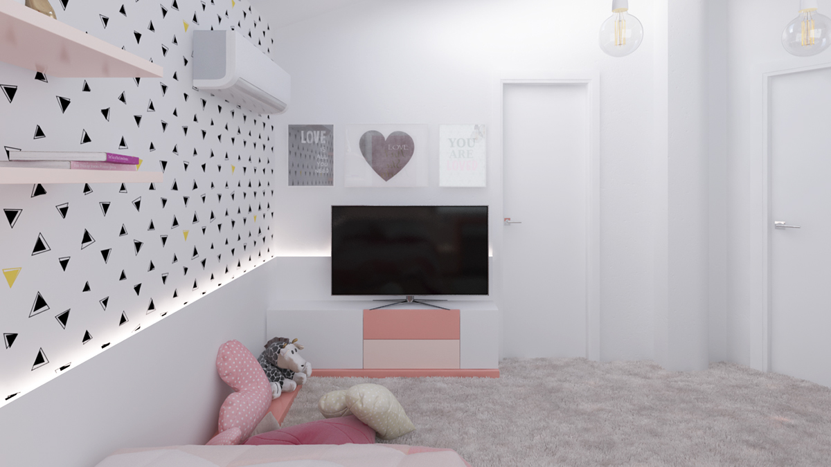Pink Kids Television Stand Inspiration - Dream big with these imaginative kids bedrooms