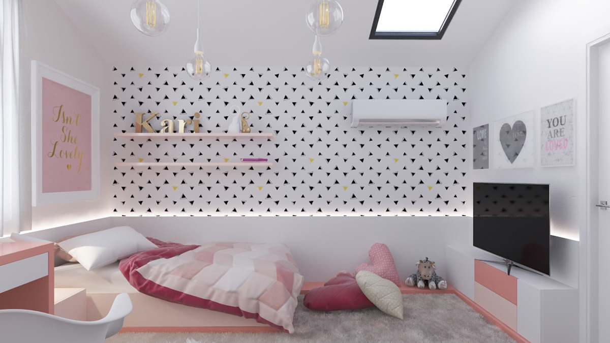 Pretty Pink Bedroom Design For Kids - Dream big with these imaginative kids bedrooms