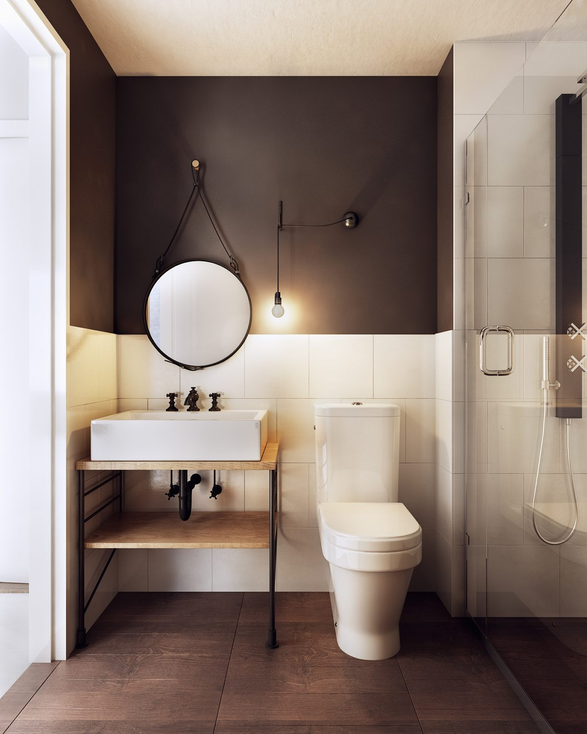 A charming eclectic home inspired by nordic design for House simple restroom design