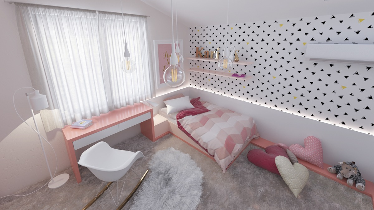 Sophisticated Pink Bedroom For Kids - Dream big with these imaginative kids bedrooms
