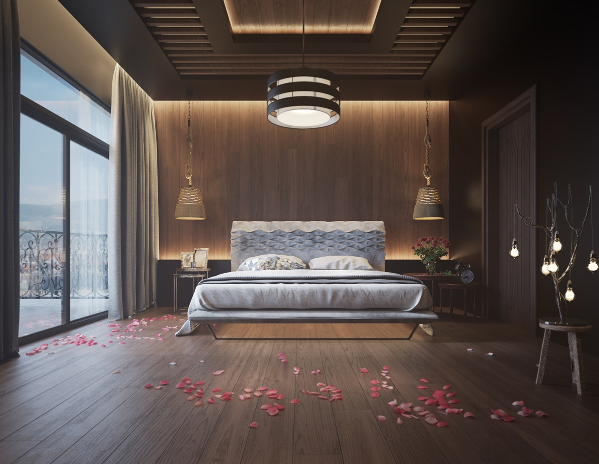 11 ways to make a statement with wood walls in the bedroom for Wooden interior design for bedroom