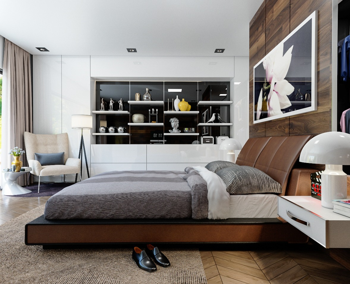 wood walls in the bedroom Design Inspiration – Wood Walls In The Bedroom wood accents for glossy white walls