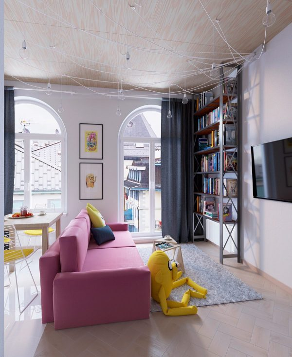 Decorating An Open Layout Home With Such A Bold Theme Takes Restraint While The Rest Of Enjoys Variety Playful Decor Media Wall Remains