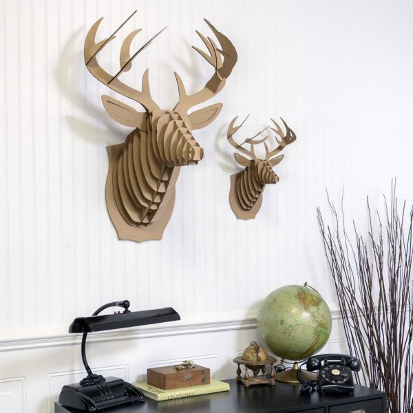 Faux Deer Head Home Decor