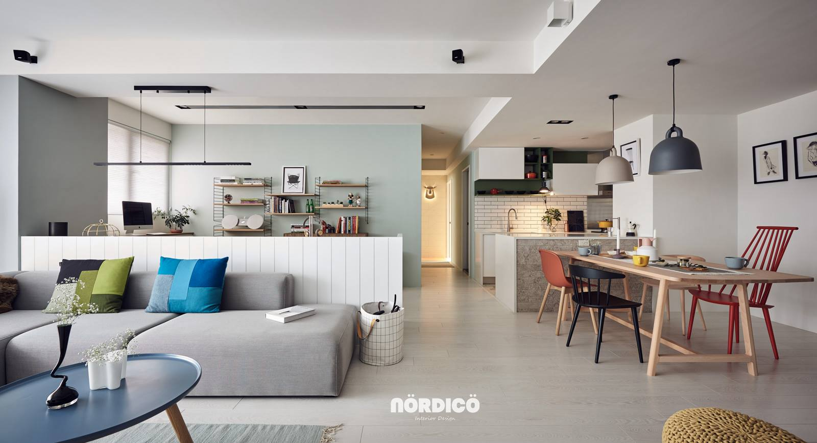 Colorful Modern Nordic Interior Inspiration - Nordic decor inspiration in two colorful homes