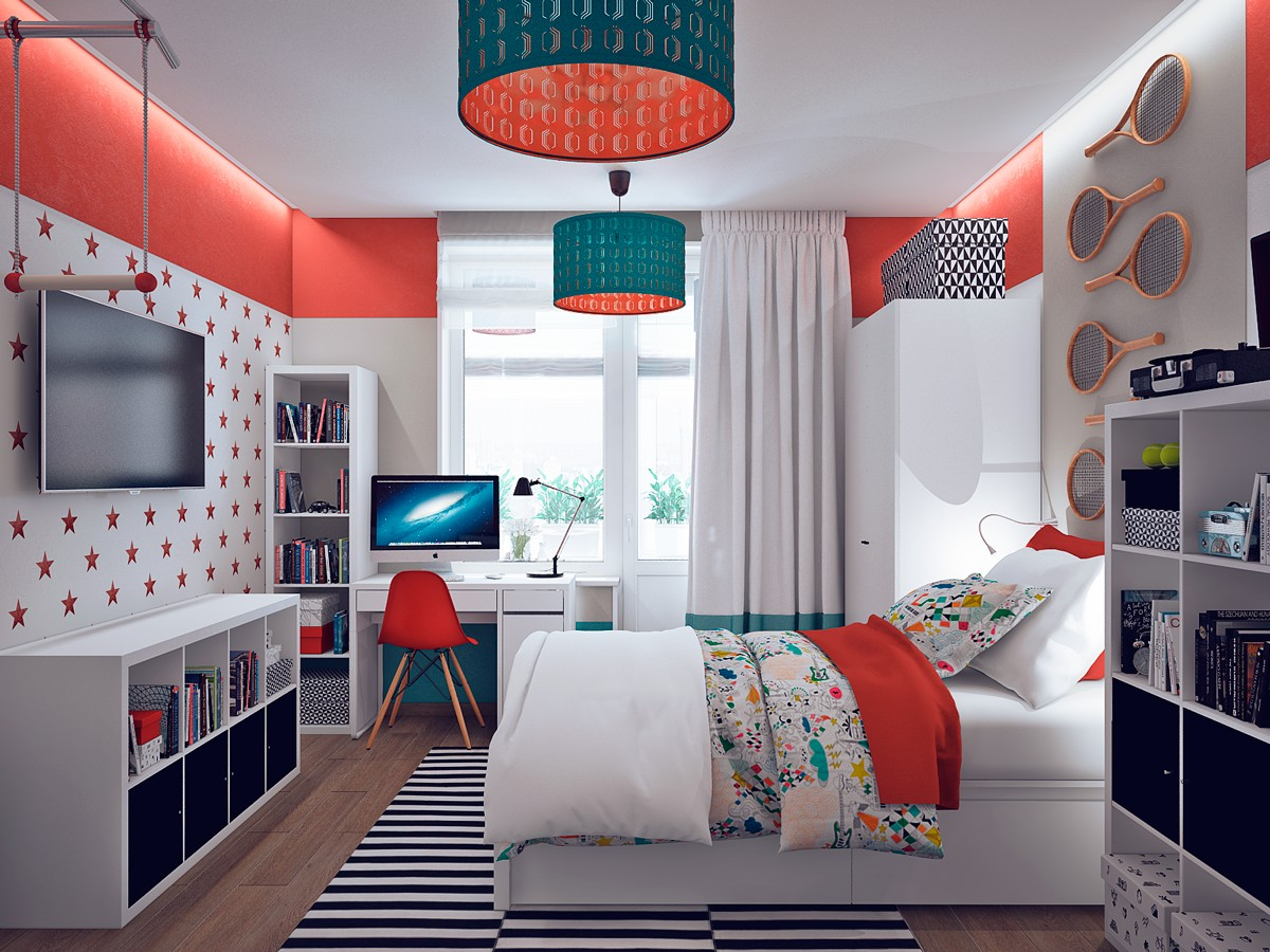 This gallery like home reflects a different art style in for New look bedroom ideas