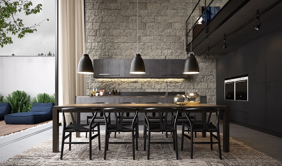 Dining room roundup 30 elegant designs for any style for Elegant stone