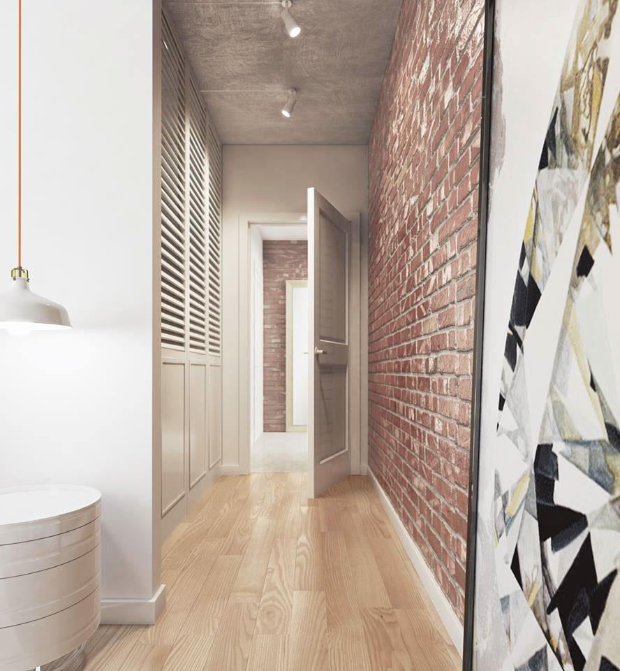 Hallway Ideas Designs And Inspiration: Color Combo Inspiration: Wood Interiors With Grey Accents