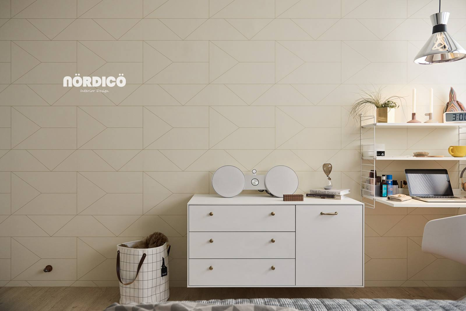 Geometric Tile In Nordic Themed Home - Nordic decor inspiration in two colorful homes