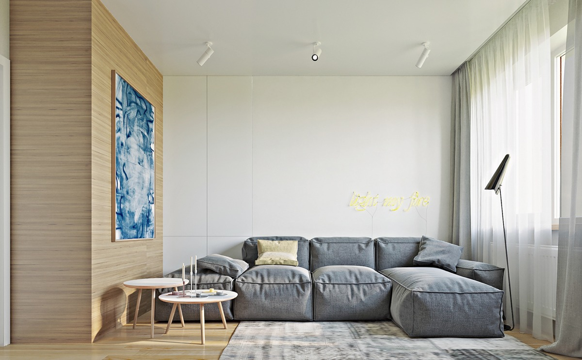 Color combo inspiration wood interiors with grey accents Room visualizer furniture
