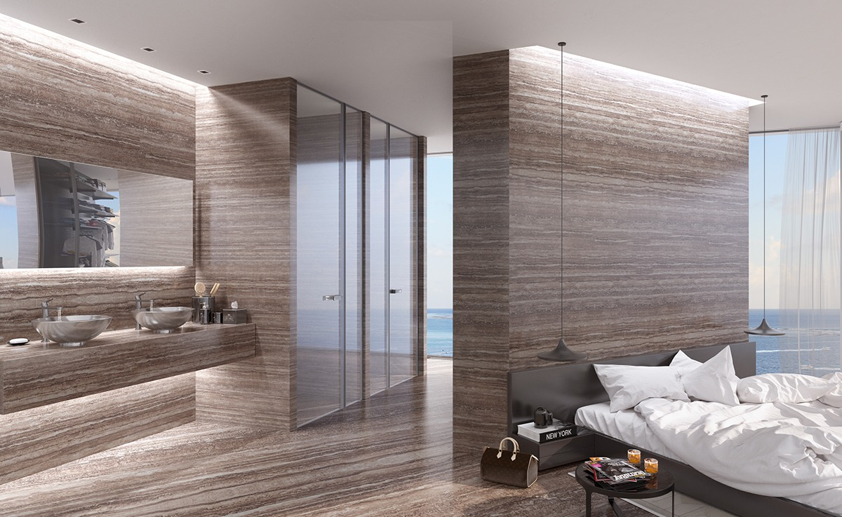 Headboard Wall With Build In Wardrobe - Breathtaking luxury resort villas in bodrum turkey