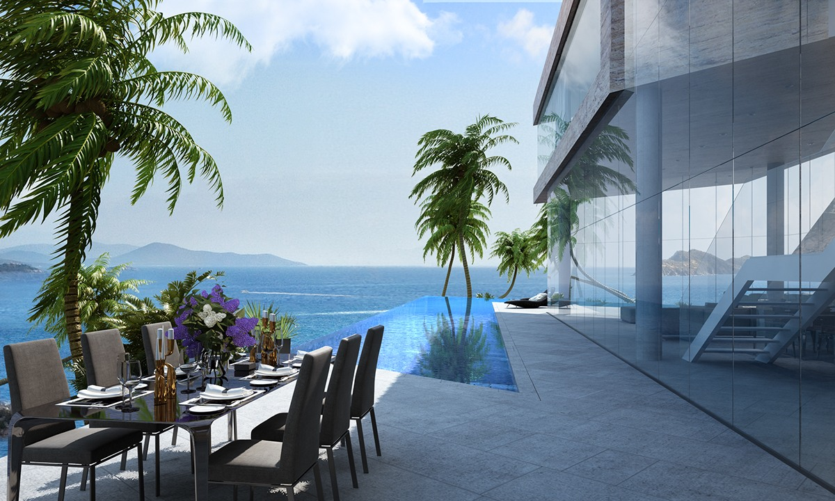 Incredible Outdoor Dining Room - Breathtaking luxury resort villas in bodrum turkey