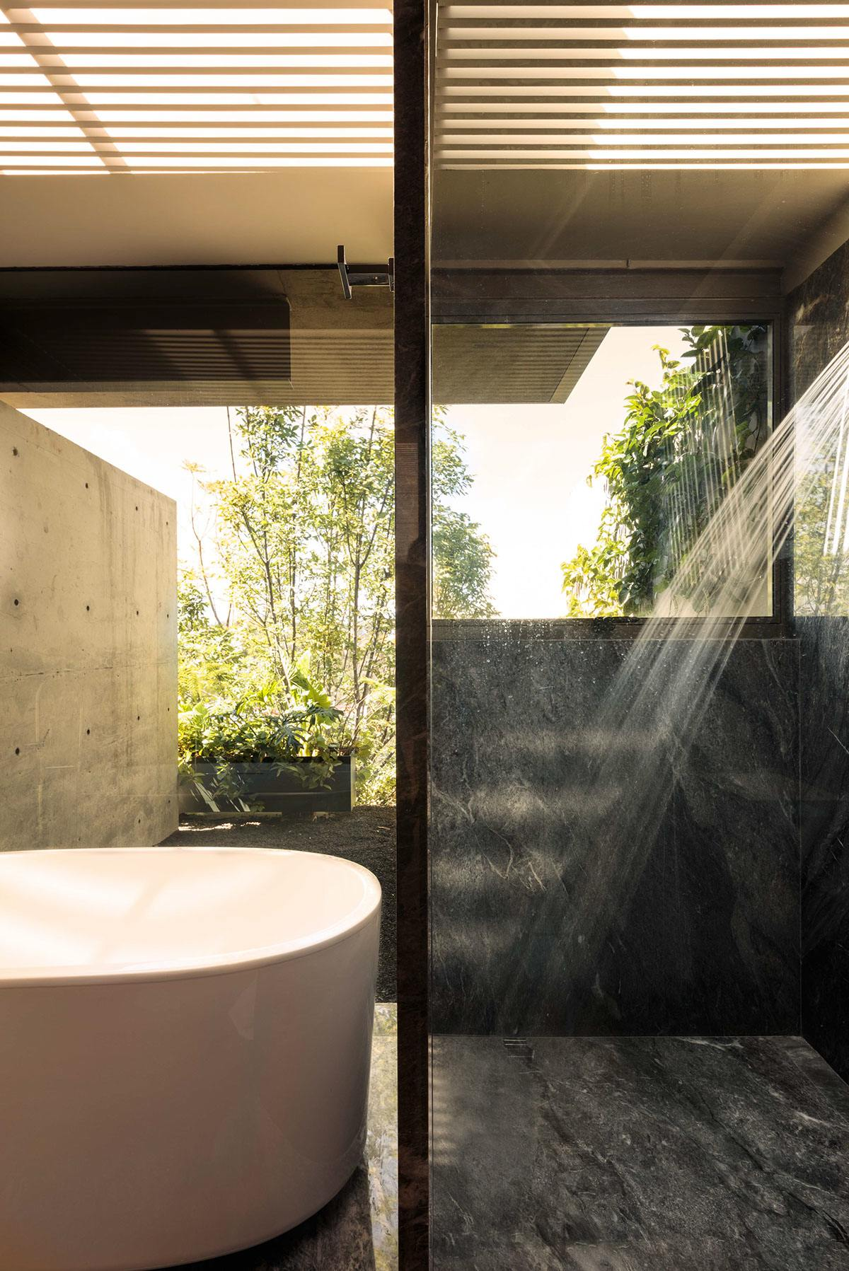 Indoor Outdoor Bathroom Inspiration - An atmospheric approach to modernist architecture in mexico