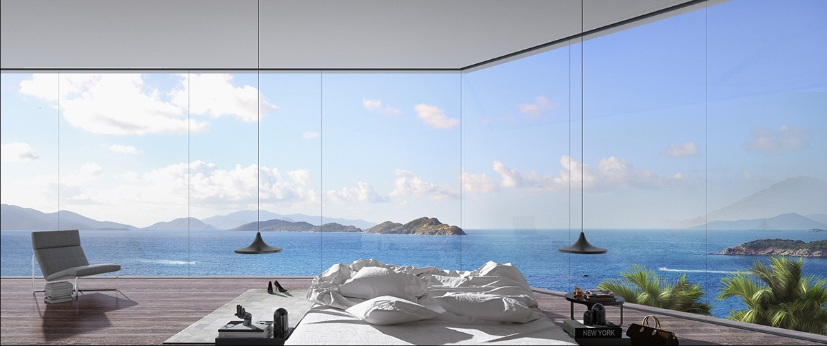Inspiring Coastal Bedroom Design - Breathtaking luxury resort villas in bodrum turkey