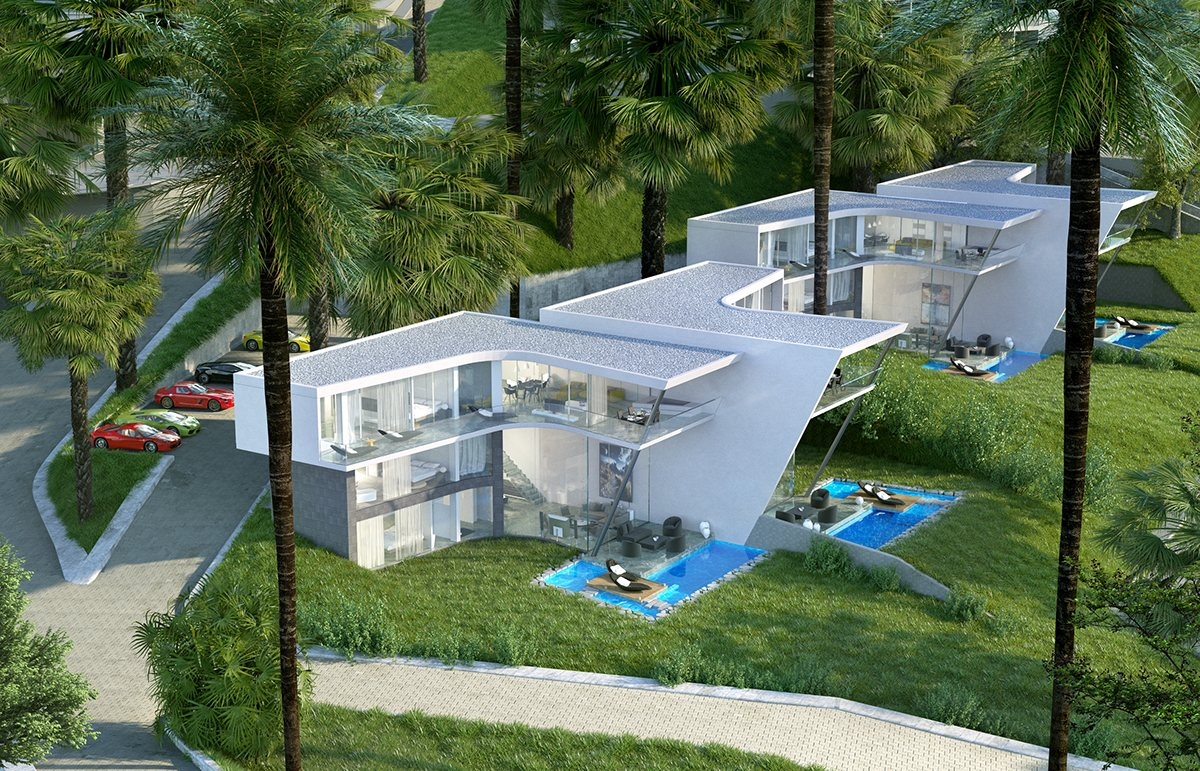 L Shaped Architecture For Multi Unit Dwellings - Breathtaking luxury resort villas in bodrum turkey