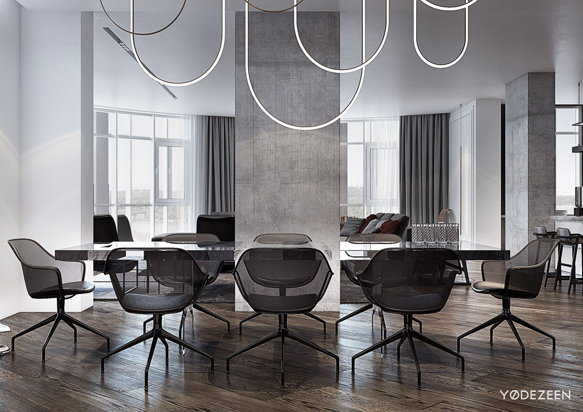 Modern Dining Room Layout - A modern apartment with classical features