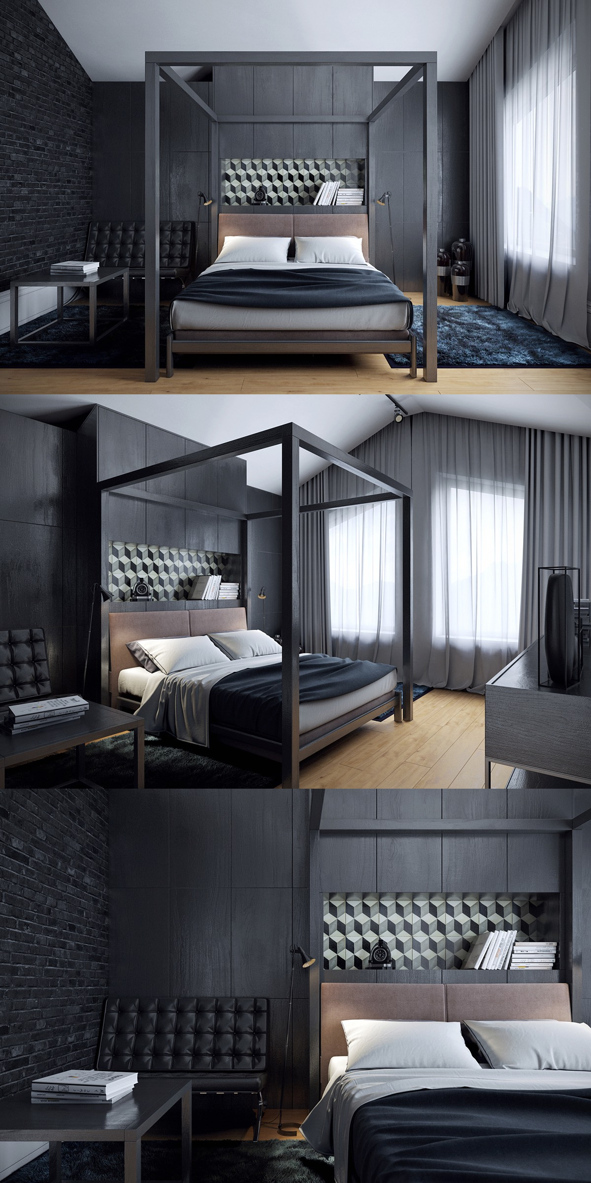 These dark bedrooms will put you in a dream like state - Interior design for dark rooms bright ideas ...
