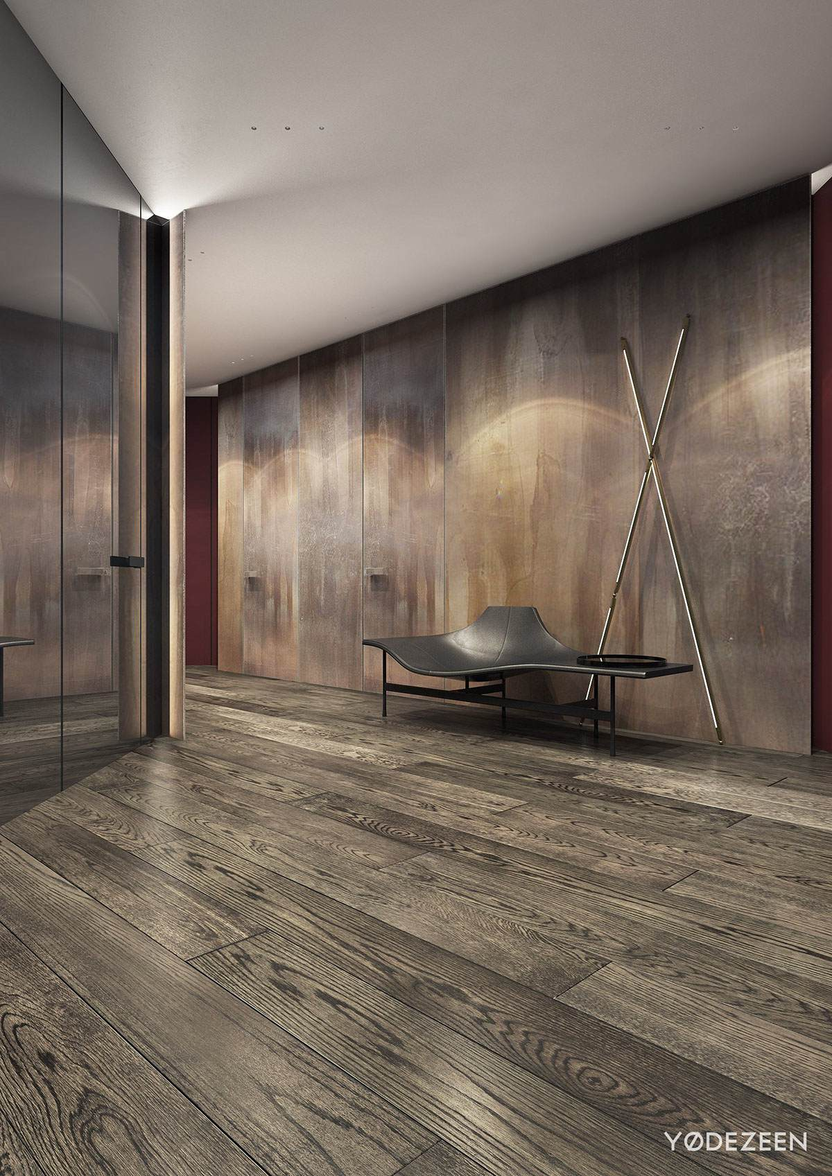 Modern Wooden Hallway Design - A modern apartment with classical features