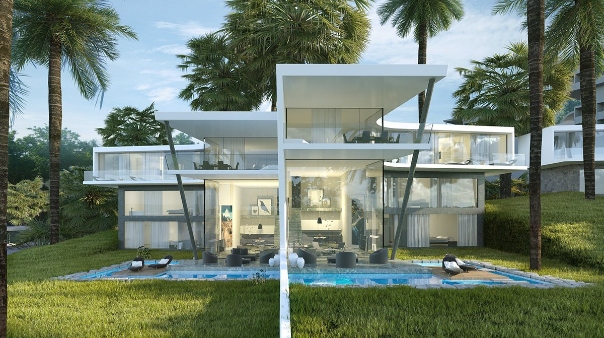 Multi Unit Vacation Villa With Modern Architecture - Breathtaking luxury resort villas in bodrum turkey