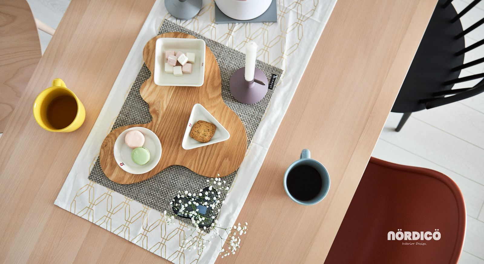 Nordic Tableware Ideas - Nordic decor inspiration in two colorful homes