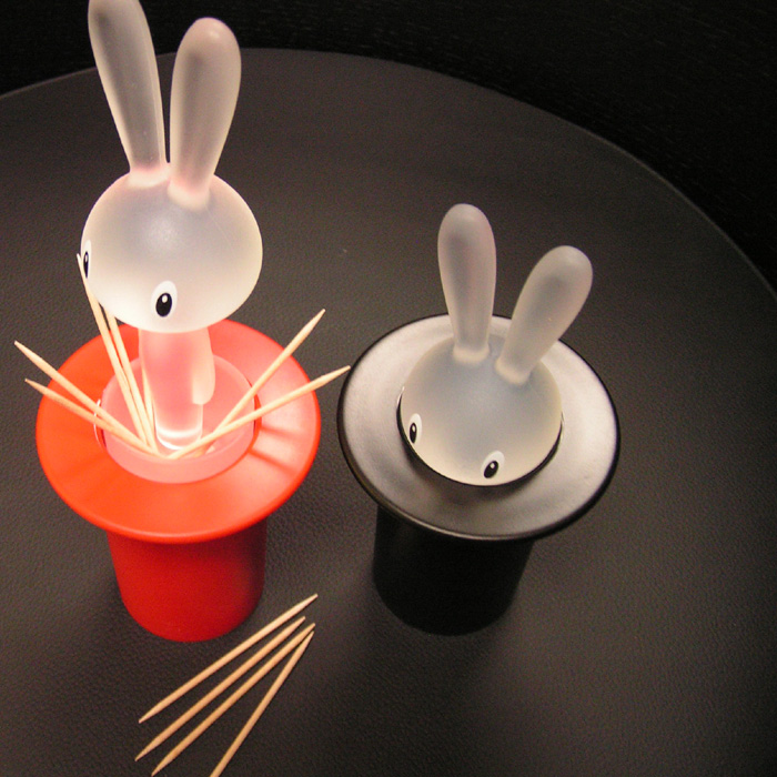 Novelty toothpick holder with bunny and hat interior design ideas - Novelty toothpicks ...