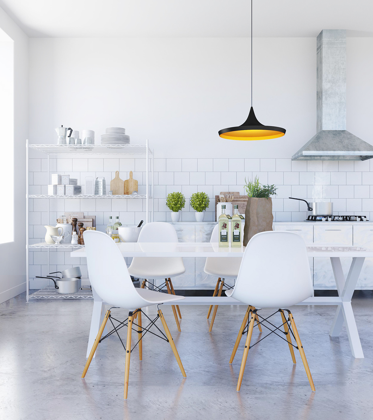 Charmant Simple All White Dining Room Style