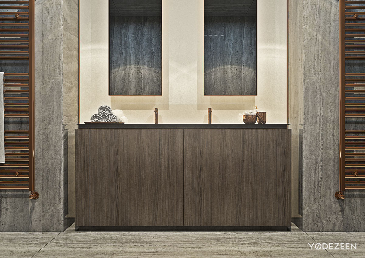 Stylish Master Bathroom Design - A modern apartment with classical features