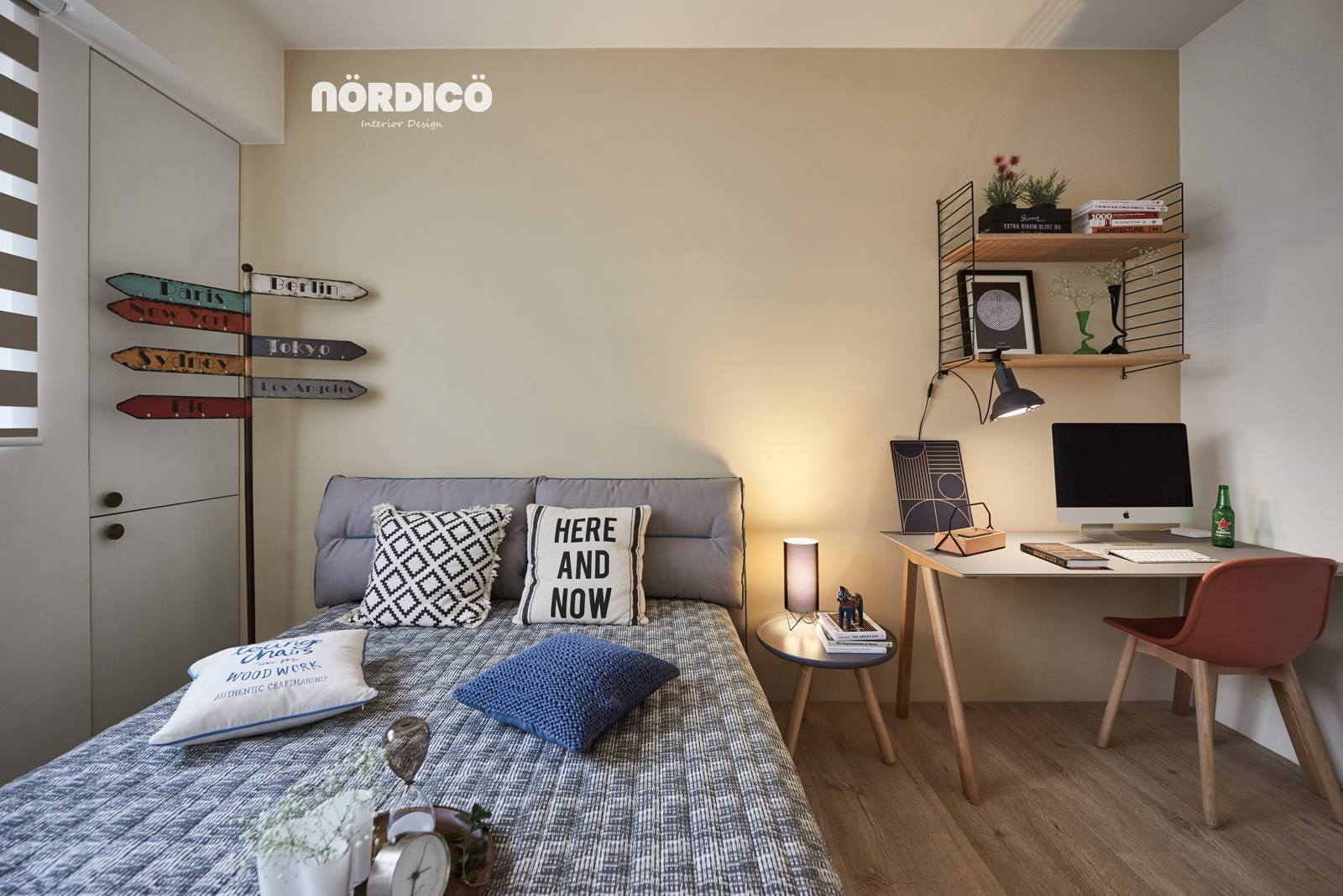 Typography In Nordic Themed Bedroom - Nordic decor inspiration in two colorful homes