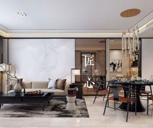 Here's a home with an even more modernized style. This delightful space is the work of Hangzhou-based designer Xiang Chen for a new project in Nanjing. This home feels bright and spacious despite its modest floor plan – it's more minimalist than the previous home, but the magic is in the details.
