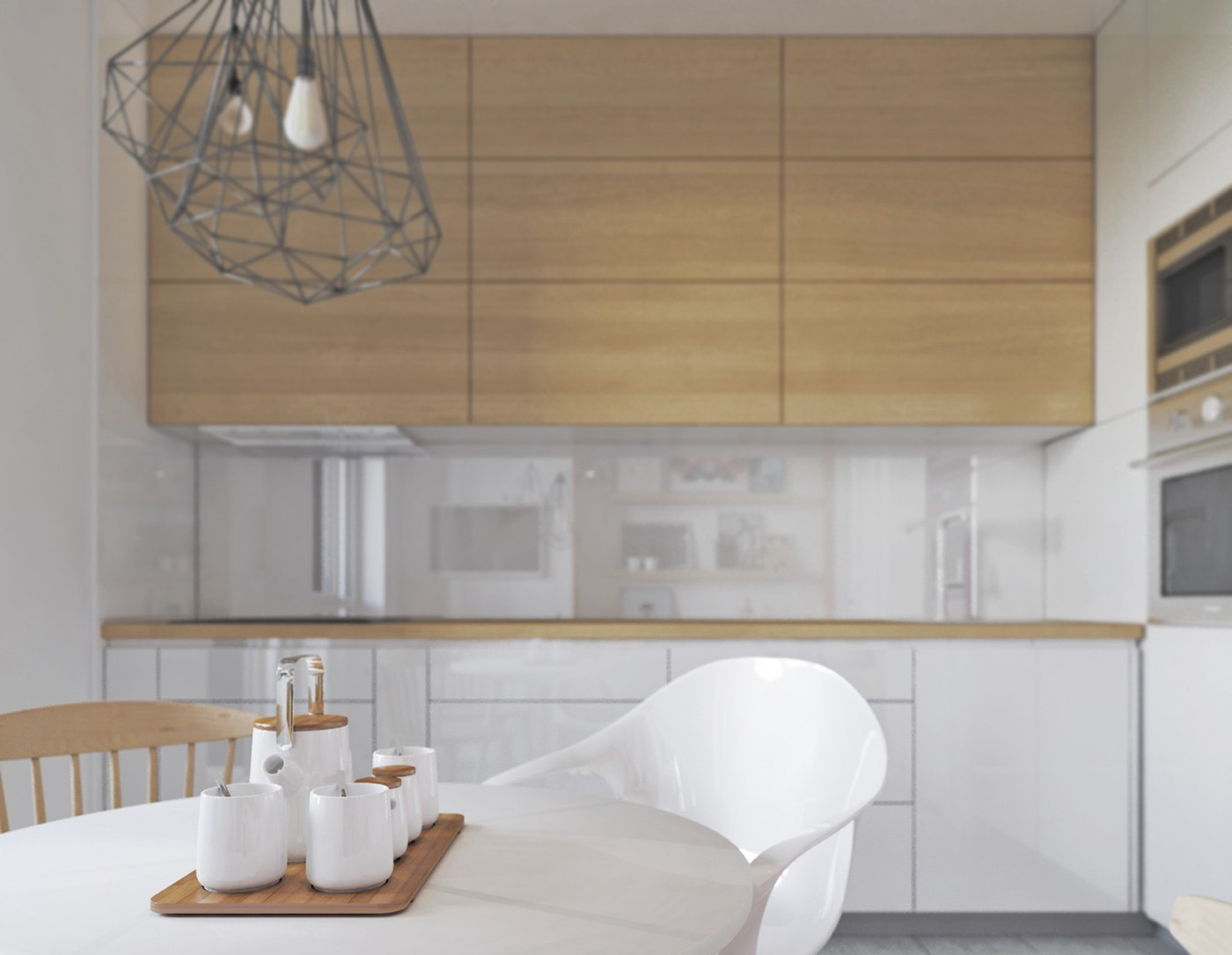 Color Combo Inspiration Wood Interiors With Grey Accents - Accent color for grey and white kitchen