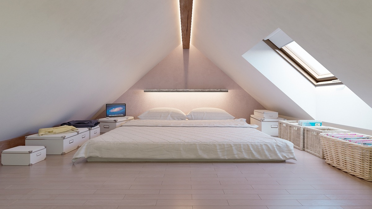 Attic Bedroom Boxes And Baskets Low Bed - 25 amazing attic bedrooms that you would absolutely enjoy sleeping in