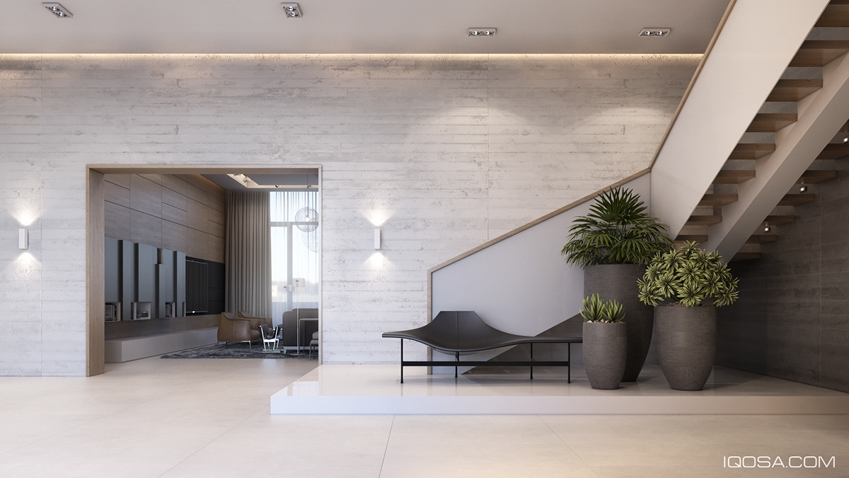 Center Stringer Luxury Staircase Inspiration - A sophisticated home with natural themes outside of kiev