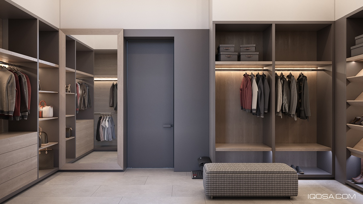 Comfortable Walk In Closet Design - A sophisticated home with natural themes outside of kiev