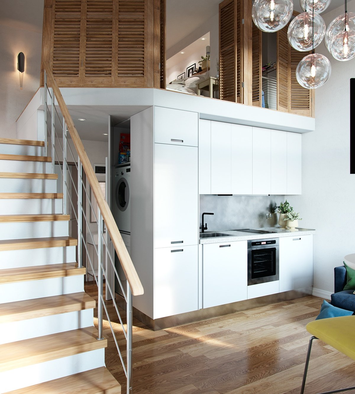 small homes that use lofts to gain more floor space - Compact House Interior