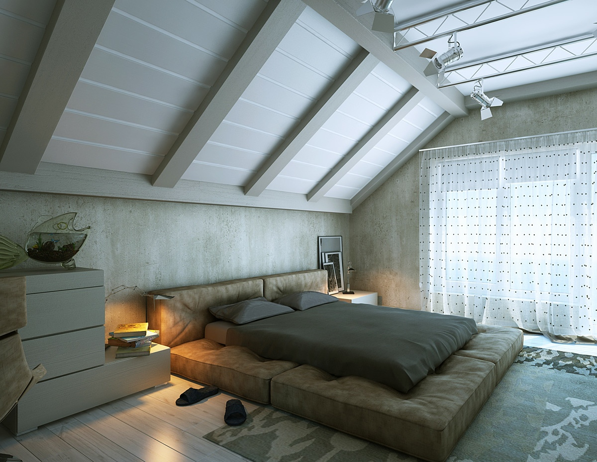 Cushion Bed White Stacked Drawers White Attic - 25 amazing attic bedrooms that you would absolutely enjoy sleeping in
