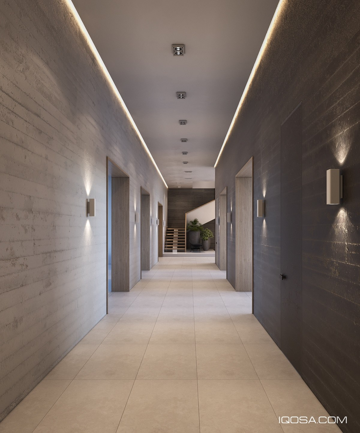 Designer Lighting For Concrete Hallway - A sophisticated home with natural themes outside of kiev