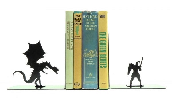 dragon bookend 50 Unique Bookends For Book Lovers