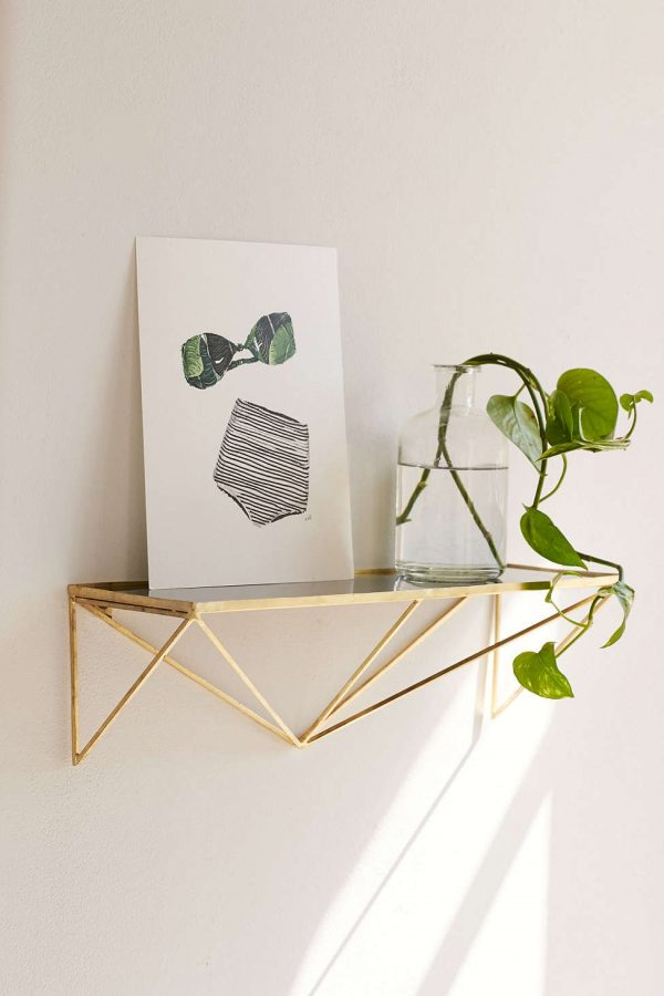 Wire And Glass Wall Art Home Decor ~ Unique wall shelves that make storage look beautiful